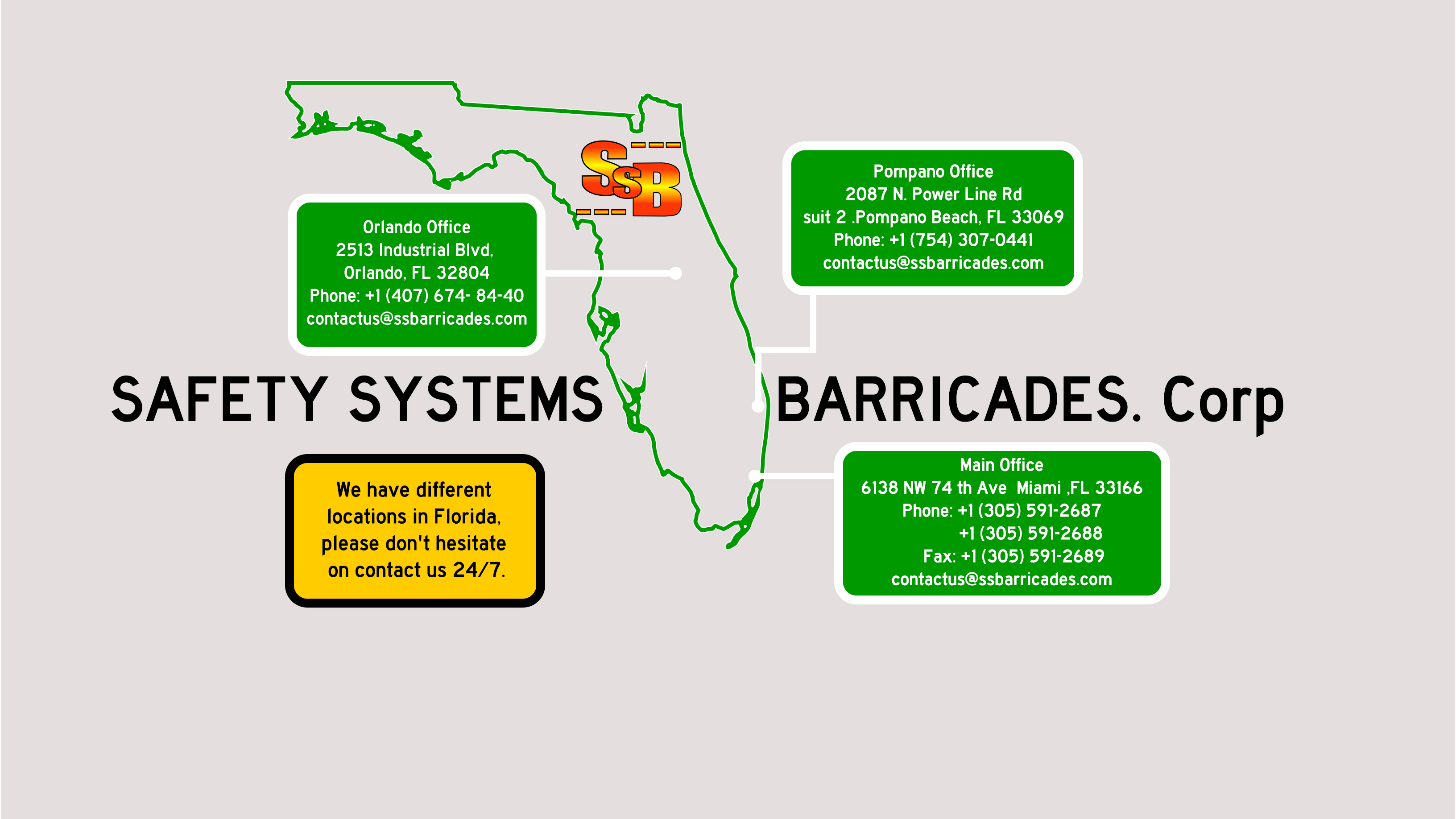 Safety Systems Barricade Corp  | We are Your Barricades Rental in